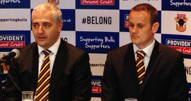 Marc Green (left) and Francis Cummins: Plotting a new era for Bradford