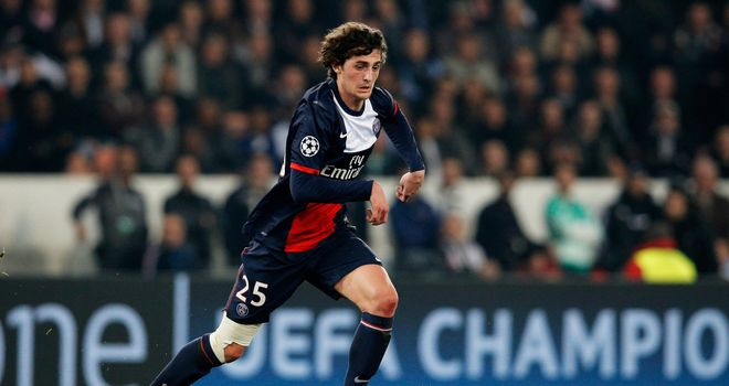 Adrien Rabiot: Looks set to leave PSG with Roma and Arsenal battling for the teenager's signature
