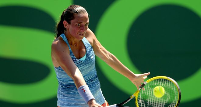 Roberta Vinci: Paid the price for a poor third set