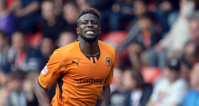 Bakary Sako: Celebrates scoring Wolves' second