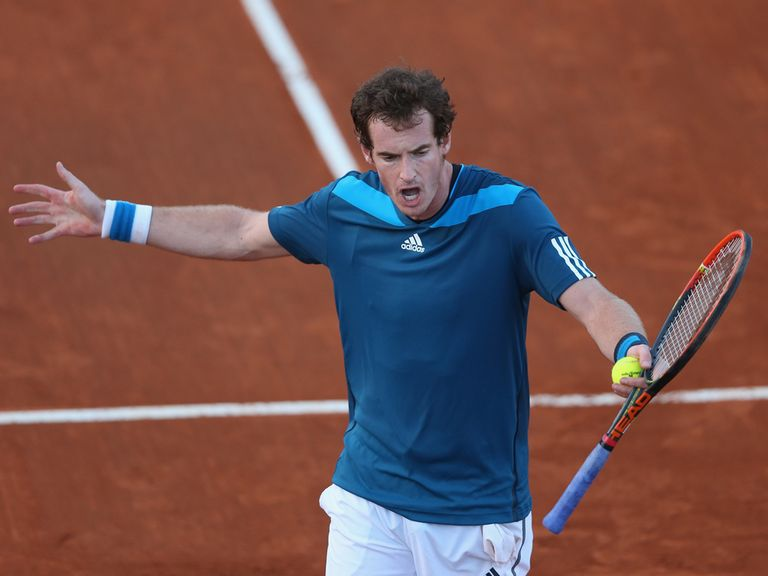 Andy Murray: Took the first set against Andreas Seppi