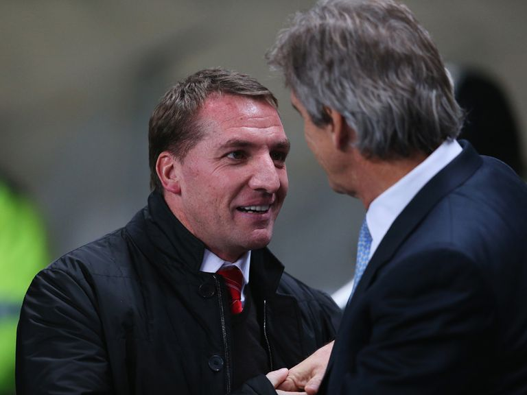 Brendan Rodgers faces Manuel Pellegrini on Sunday