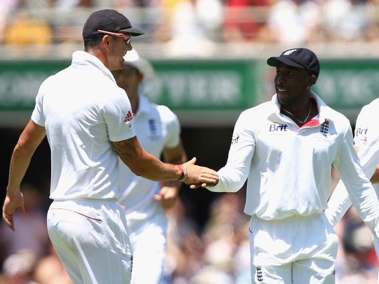 Pietersen and Carberry in action during the Ashes