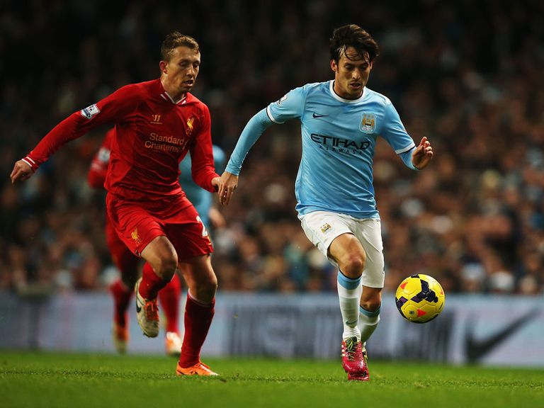 David Silva (right): Injury doubt for Man City