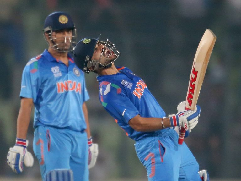 Virat Kohli celebrates India's victory