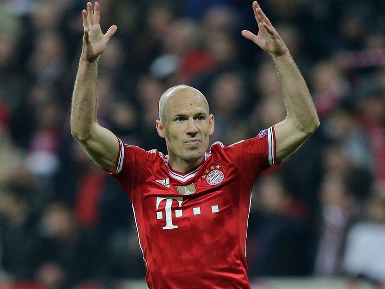 Robben: Scored the hosts third as they battled back to beat United