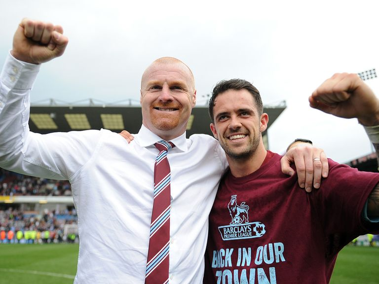 Sean Dyche with one of his star men Danny Ings