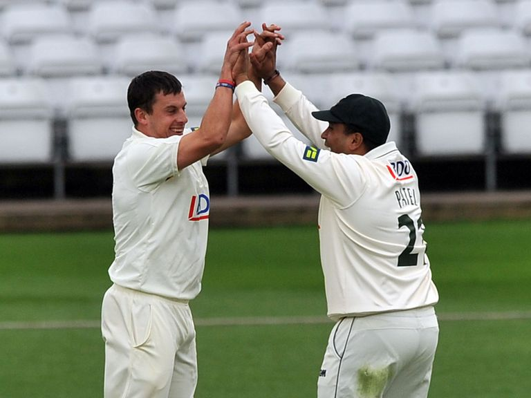 Nottinghamshire celebrate another wicket