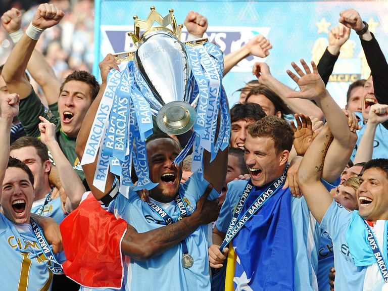 Manchester City took the title by two points from Liverpool