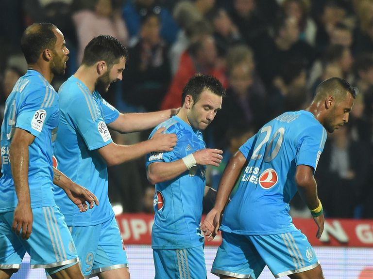 Marseille grabbed a late victory over Montpellier