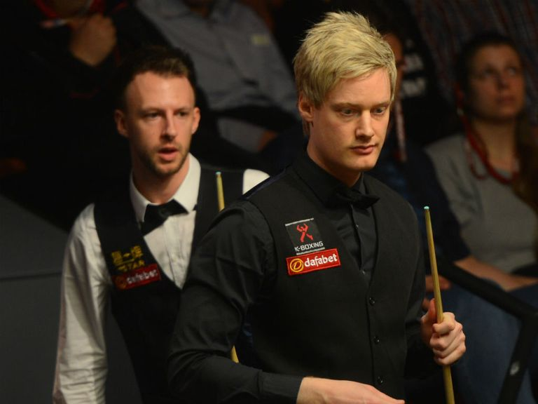 Judd Trump (l): Through to the final against Neil Robertson