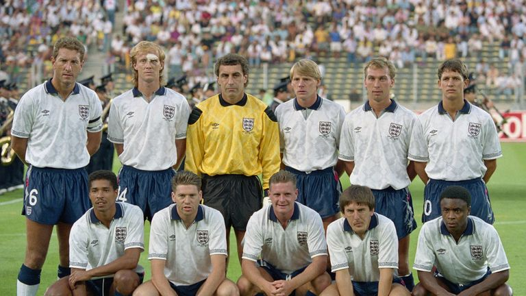 The England team went one step beyond the quarter finals at Italia '90 and are celebrated