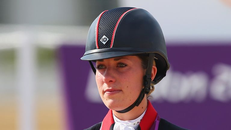 Charlotte Dujardin: Helped Great Britain's dressage team secure a silver medal at the World Equestrian Games