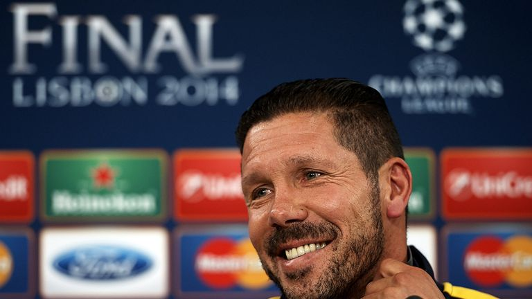 Diego Simeone: Confident in his Atletico squad