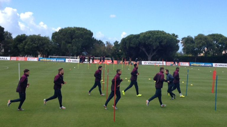England shiver through their paces!