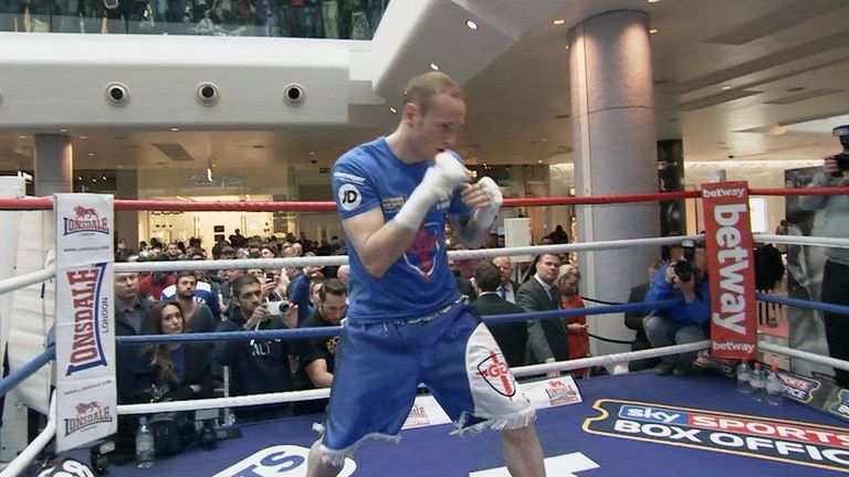 George Groves: In great shape, according to coach