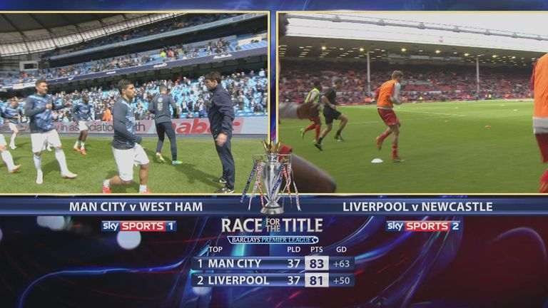 Sky Sports sets the scene pre-match with just two points separating City and Liverpool