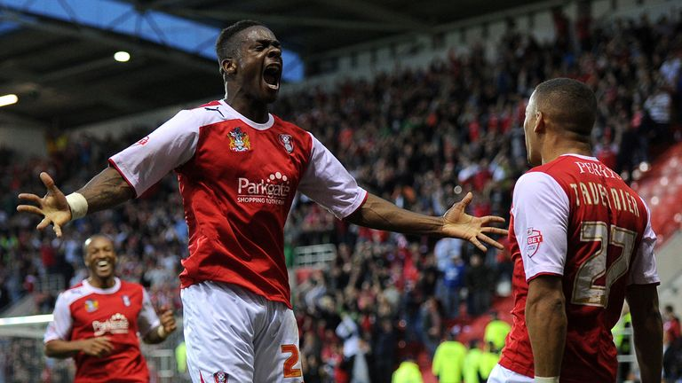 Kieran Agard (left): Has joined Bristol City