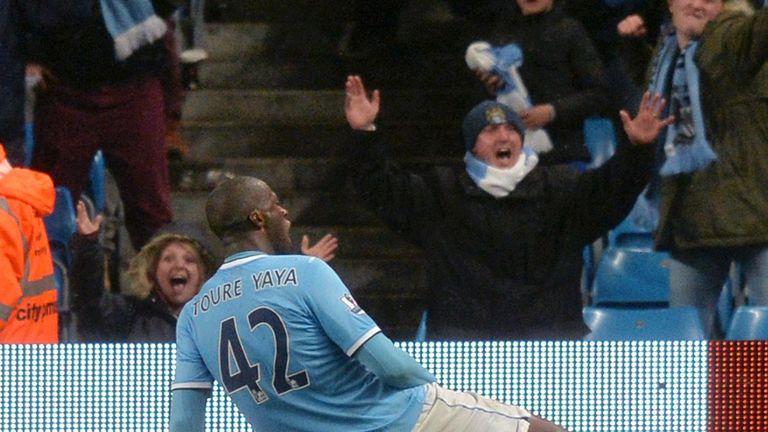 Yaya Toure: City's 100th goal