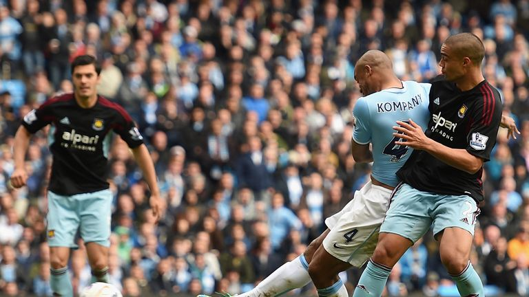 Vincent Kompany settles any lingering nerves with City's second