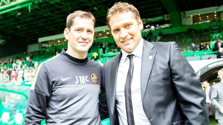 Jackie McNamara: Dundee United boss with former Celtic team-mate Stan Petrov