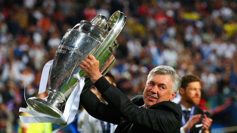 Carlo Ancelotti has won the Champions League for a third time as manager