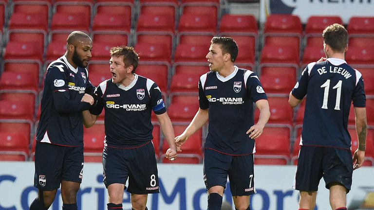 Richie Brittain (second left) will be the key man for Ross County