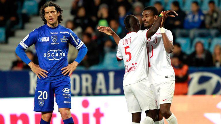 Salomon Kalou celebrates his opener for Lille