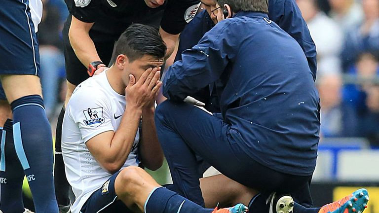 Sergio Aguero: Suffered injury against Everton last weekend