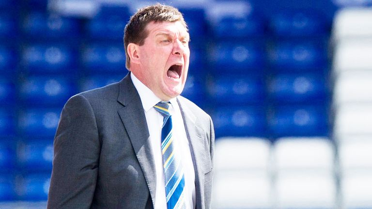 Tommy Wright: Bemoaned first-half display in Perth