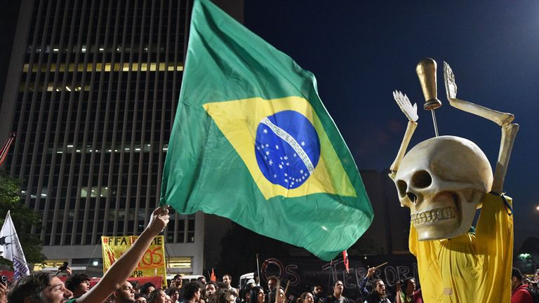 There was continued unrest on the streets of Brazil