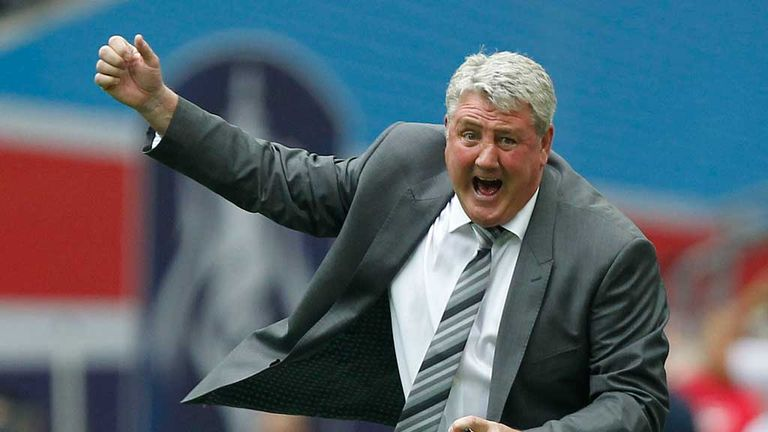 Steve Bruce: Delighted with his side