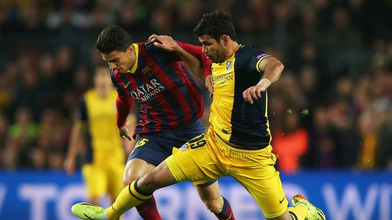 Diego Costa Atletico Madrid Marc Bartra Barcelona