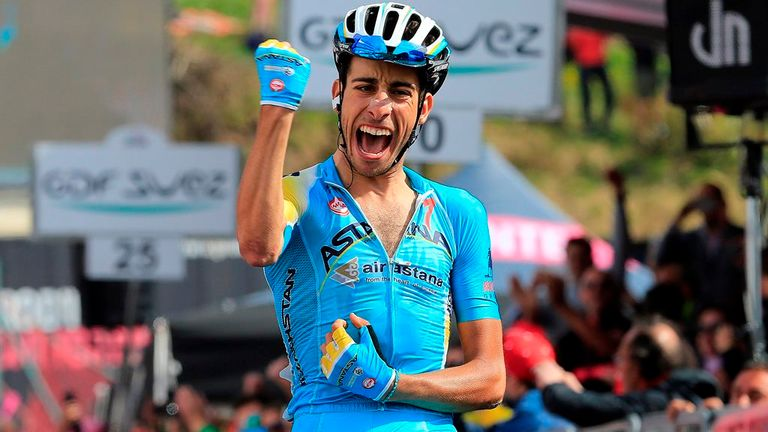 Fabio Aru won by 21 seconds on stage 15