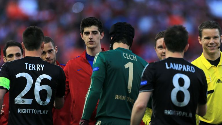 Courtois: faced Cech in the Champions League last season