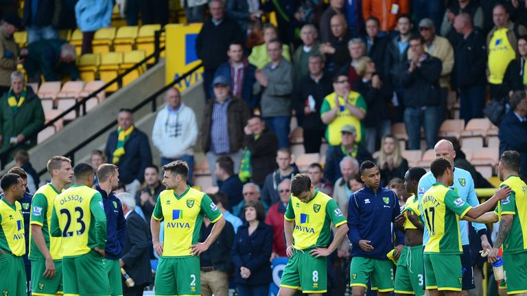 Norwich City: Players dejected after relegation is confirmed