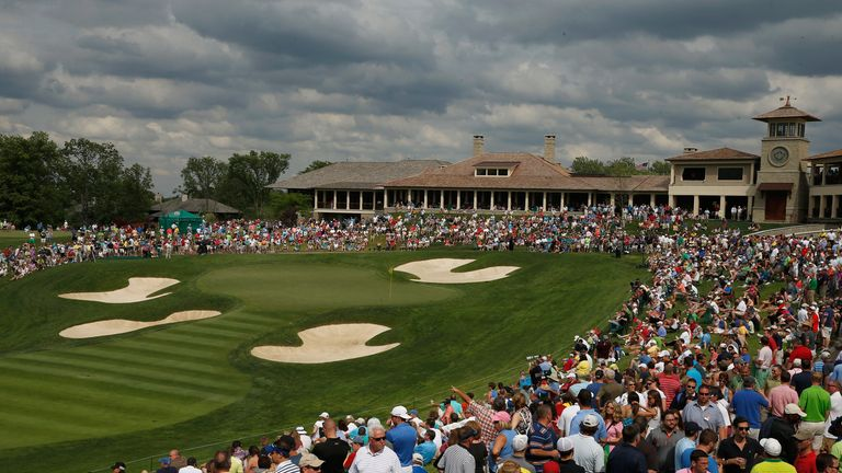 The 18th hole at Muirfield Village.