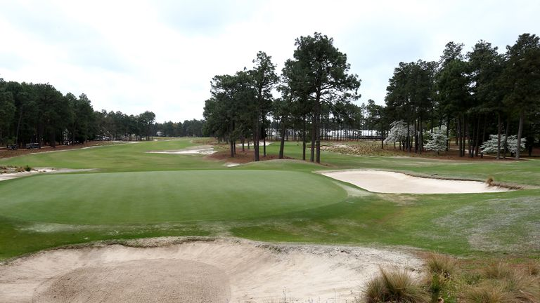 A general view of the 16th hole.