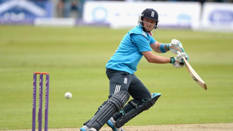 Ian Bell: England batsman in action in Aberdeen