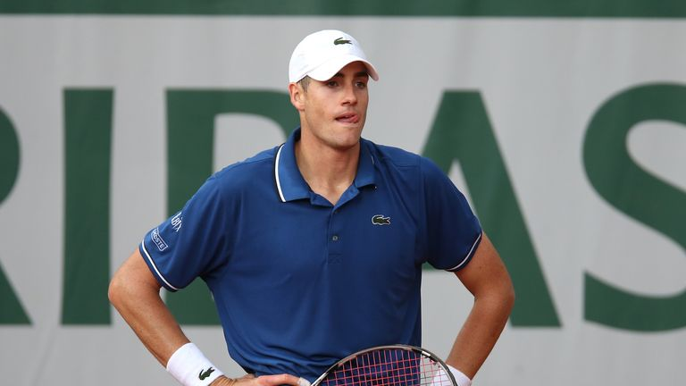 John Isner: Dumped out of the Hall of Fame Tennis Championships
