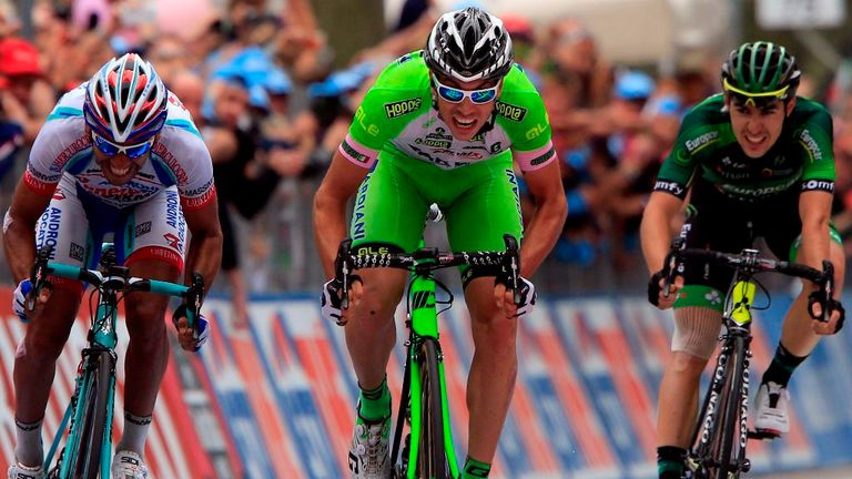 Marco Canola claimed the biggest win of his career on stage 13 of the Giro d'Italia