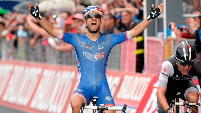 Nacer Bouhanni sprinted to his first Giro d'Italia win