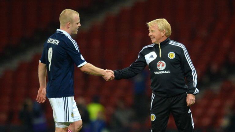 Scotland manager Gordon Strachan and Steven Naismith