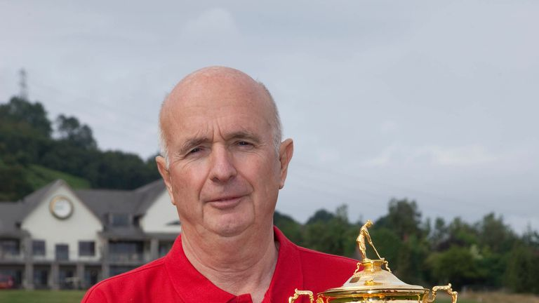 Sky Sports' Bruce Critchley with the Ryder Cup