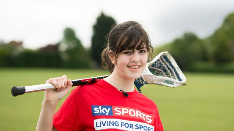 Rhiannon Bracher: grew in confidence from the Sele School's lacrosse project