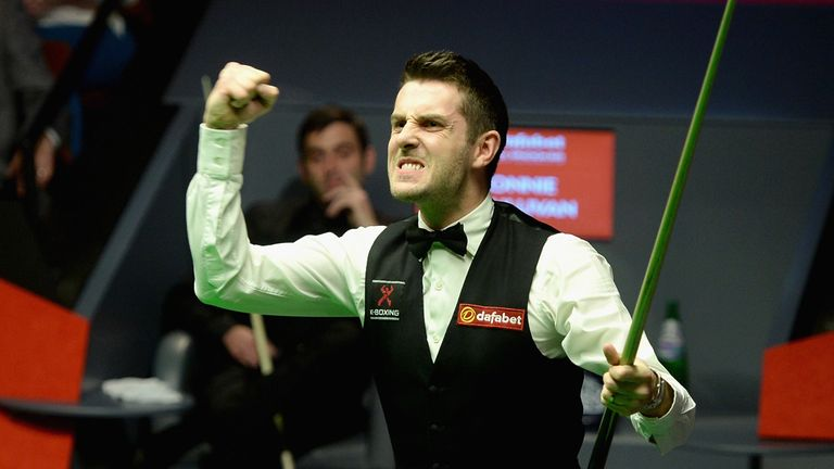 Selby: Celebrating his maiden world title win