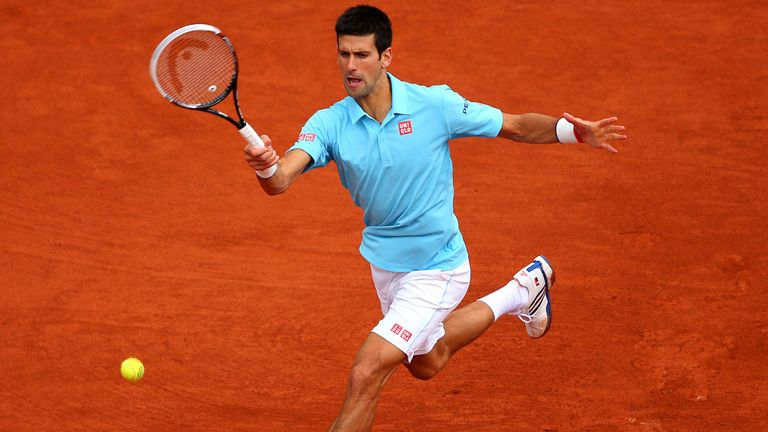 Novak Djokovic: Plays Jeremy Chardy