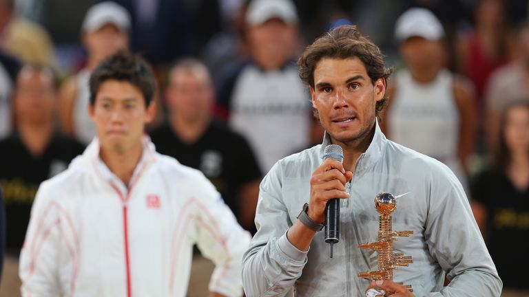 Rafael Nadal: Spaniard came from set down to beat an injured Kei Nishikori