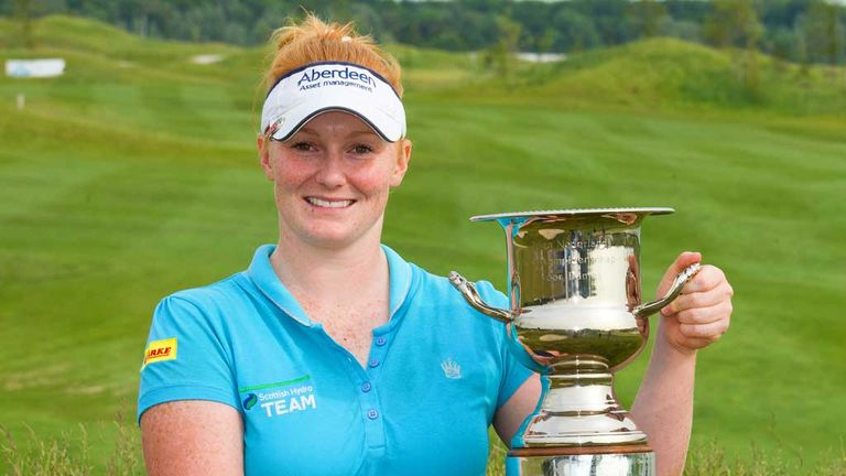 Kylie Walker: Scot proudly displays the Deloitte Ladies Open trophy