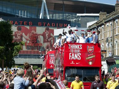 Arsenal: Show off FA Cup trophy on open-top bus parade